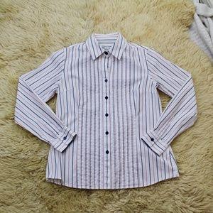 Pendleton Women's Button Up White Shirt Size 8